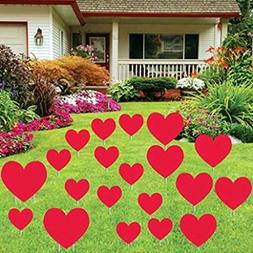 VictoryStore Yard Sign Outdoor Lawn Decorations: Valentine