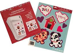 Valentine's Day Refrigerator Magnets with Reusable Window De