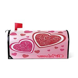 Valentine's Heart On Pink Magnetic Mailbox Cover MailWraps,