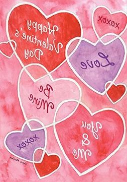 "Valentine's Messages Garden Flag Hearts Holiday 12.5"" x 18"""