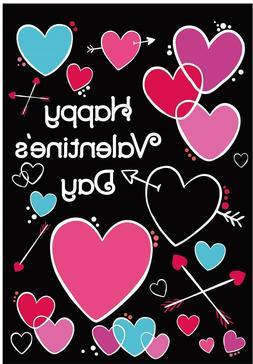 Valentine's Day Garden Flag Hearts Outdoor Banner 12x18 2-Si