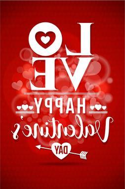 Valentine's Day Love Garden Flag Banner 12x18 2-Sided Heavy