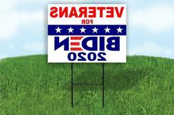 Veterans for BIDEN 2020 JOE BIDEN POLITICAL Yard Sign ROAD S