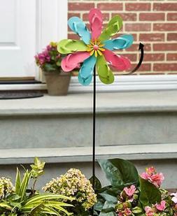 VIBRANTLY COLORED FLOWER SHAPED FLIP FLOP GARDEN YARD SPINNE