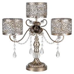Amalfi Décor Victoria Antique Silver Metal 3 Pillar Candle