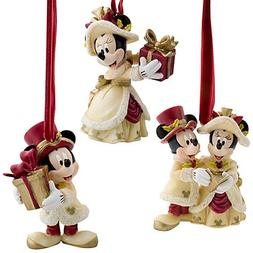 Disneys Victorian Minnie and Mickey Mouse Holiday Ornament S