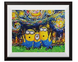 Uhomate Vincent Van Gogh Starry Night Posters Minions Inspir