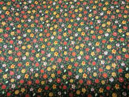 Vintage Calico Print Cotton Fabric Quilting Home Decor Dress