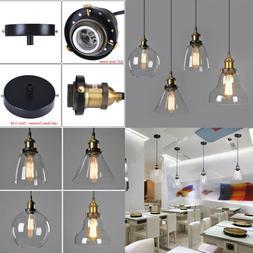 Vintage Edison Industrial Retro Loft Glass Ceiling Lamp Shad