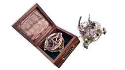 "Vintage Marine WEST LONDON Antique 2.5"" Brass Sundial Compas"