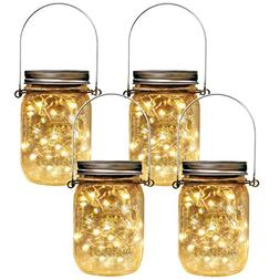 Homeleo 4 Pack Vintage Outdoor Solar Mason Jar Light Set,20