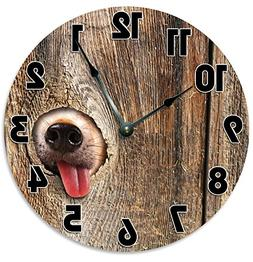 """Large 10.5"""" Wall Clock Decorative Round Wall Clock Home Deco"""