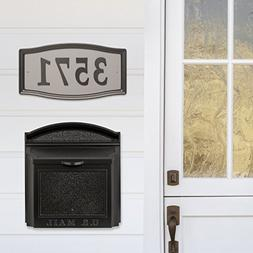 Whitehall Wall Mounted Locking Mailbox Color French +Address