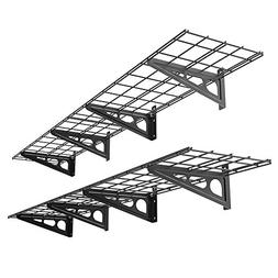 FLEXIMOUNTS 2-Pack 1x6ft 12-inch-by-72-inch Wall Shelf Garag