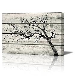 wall26 - Canvas Prints Wall Art - Artistic Tree with Leaves