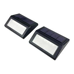 WALLER PAA LED Solar Power PIR Motion Sensor Wall Light Wate