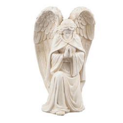WalterDrake Resin Angel Statue - Religious Garden Statue Rem