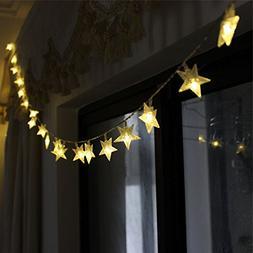 TINNZTES New Warm White 4m/13ft 40 LED Star Light Fairy Stri