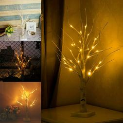 Warm LED Silver Birch Twig Tree Warm White Light Branches Or