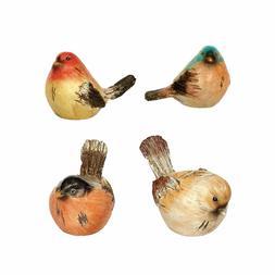 Watchful Birds Orange Hues 4.25 x 3 Resin Miniature Garden F