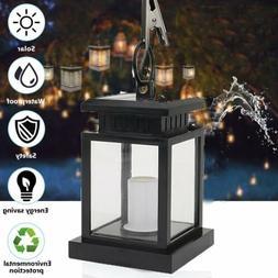 Waterproof Outdoor Solar Lantern Hanging Light LED Candle Ya