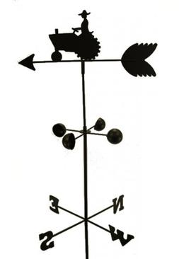 Weather Vane Farm Tractor 6 Feet Tall Black Garden Mount Yar