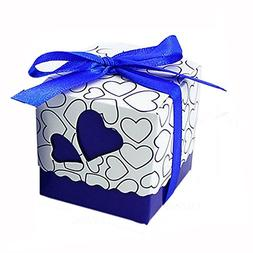 Leehome 100PCS Wedding Party Favors Candy Gift Boxes With Ri