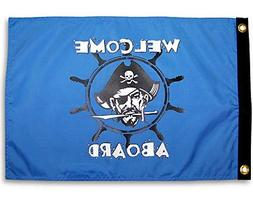 "Welcome Aboard Pirate 12"" X 18"" Flag"