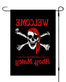 WELCOME Ahoy Matey Pirate Jack Rackham Garden Banner Flag Ya