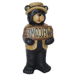 Welcome Bear Garden Statue 22.5 Inch Animal Durable Resin Ho