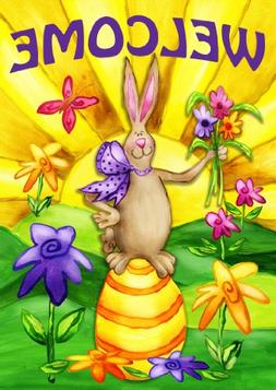 welcome bunny flag