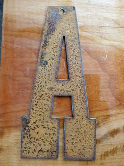 Western Rusty Steel Metal Letters/Numbers A-Z and 0-9 FREE S