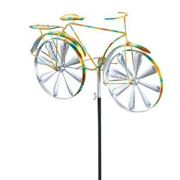 Whimsical Bicycle Wind Spinner Garden Stake, by Collections