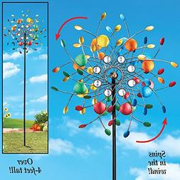 Whimsical Spinning Confetti Kinetic Colorful Vibrant Metal S