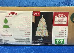 Holiday Time White 4' Pre-Lit Indiana Spruce Tree Multi Colo