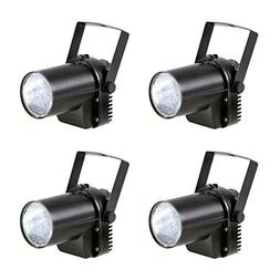 4 Pack White LED Beam Pinspot Light DJ Mirror Ball Lighting