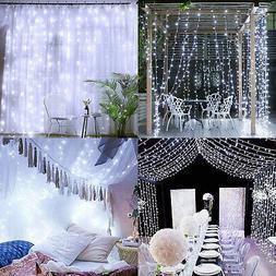White Light 100LED 10m Fairy Curtain String Lights Wedding P