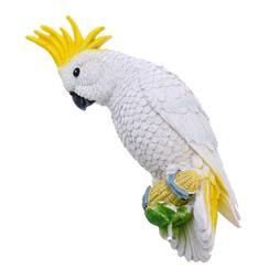 White Parrot Collectible Animal Figurine Statue Home Garden
