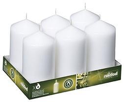 BOLSIUS 3x6 Set of 6 White Wedding Pillar Candles aprox 3x6