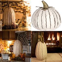 White Pumpkin Lantern – Handcrafted Luminary Tall DIFFUSER
