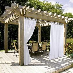 NICETOWN White Outdoor Curtain and Drape for Pergola Lightwe
