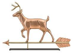 white tail buck copper weathervane