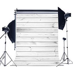 Lfeey 3x5ft White Wood Vinyl Thin Photography Background Mod