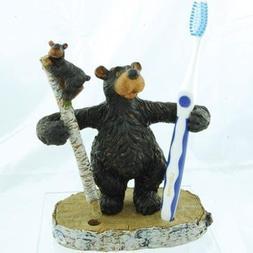 "Willie Black Bear Toothbrush or Pen Pencil Holder  6.5"""