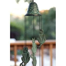 Wind Chime - Patio Decor Cat Themed Brass Wind Chime