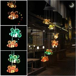 KUAHAIHINTERAL Wind Chime, HOPESOOKY Color-Changing Outdoor