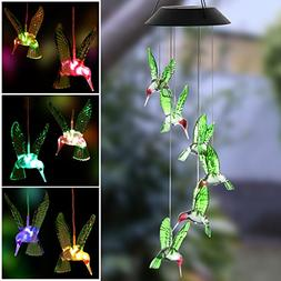 Wind Chime Powered LED Changing Light Color Outdoor Windligh