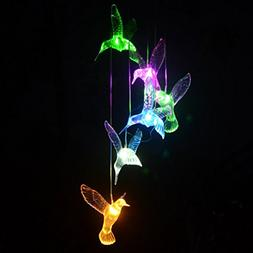 ANWING Changing Color Hummingbird Wind Chime Light with Medo