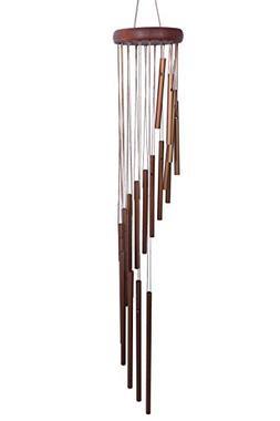 Wind Chimes- Indoor Outdoor Spiral Steel Wind Bronze Tunes D