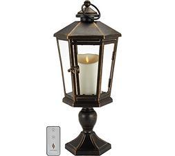 "Luminara 21"" Windsor Lantern with Pedestal & Flameless Candl"